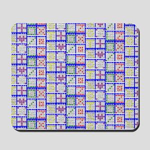 Bingo Game Patterns Offset Mousepad