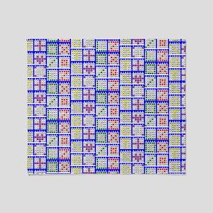 Bingo Game Patterns Offset Throw Blanket