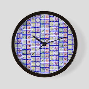 Bingo Game Patterns Offset Wall Clock