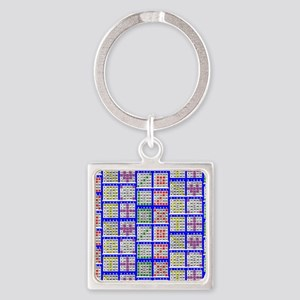Bingo Game Patterns Offset Square Keychain