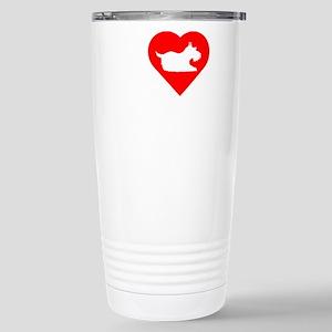 Schnauzer-Darks Stainless Steel Travel Mug