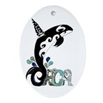 Orca Freedom Ornament (Oval)