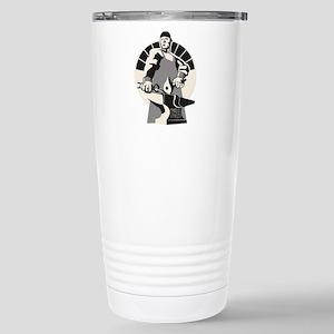 Black_smith_giant-grey Stainless Steel Travel Mug