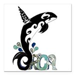 Orca Freedom Square Car Magnet 3