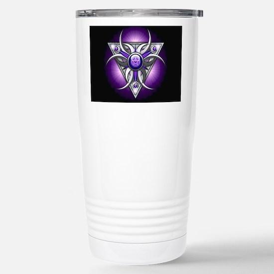 Triple Goddess - purple Stainless Steel Travel Mug