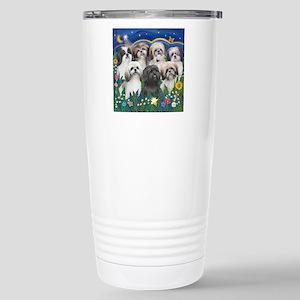Tile-MoonGarden-7ShihTz Stainless Steel Travel Mug