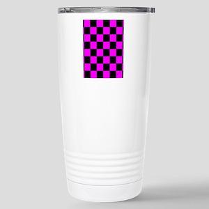 ipadsleevepinkcheckerbo Stainless Steel Travel Mug