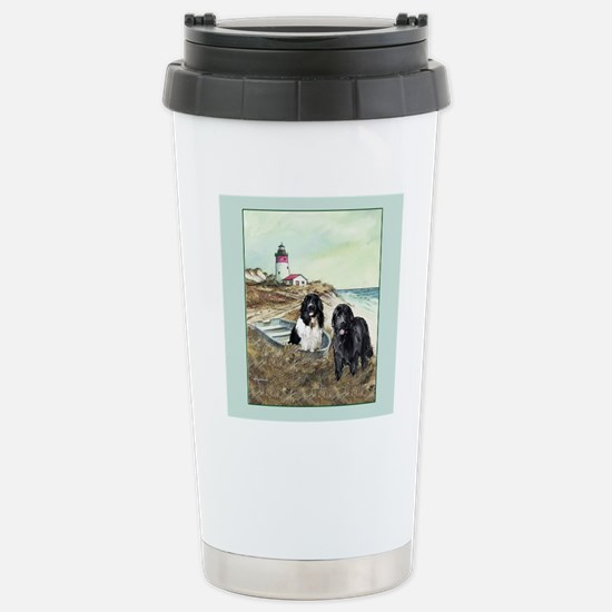 2 newfs and boat  Stainless Steel Travel Mug