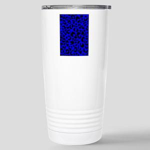 ipadsleeveblueleopardpn Stainless Steel Travel Mug