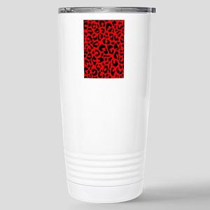 ipadsleeveredleopard Stainless Steel Travel Mug