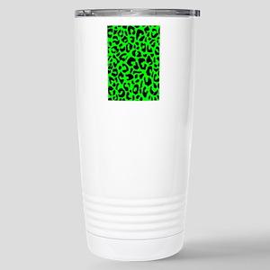 ipadsleevegrnleopard Stainless Steel Travel Mug