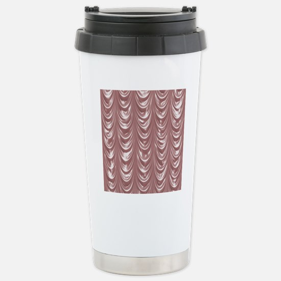 PinkSatinScallopsSQ12 Stainless Steel Travel Mug