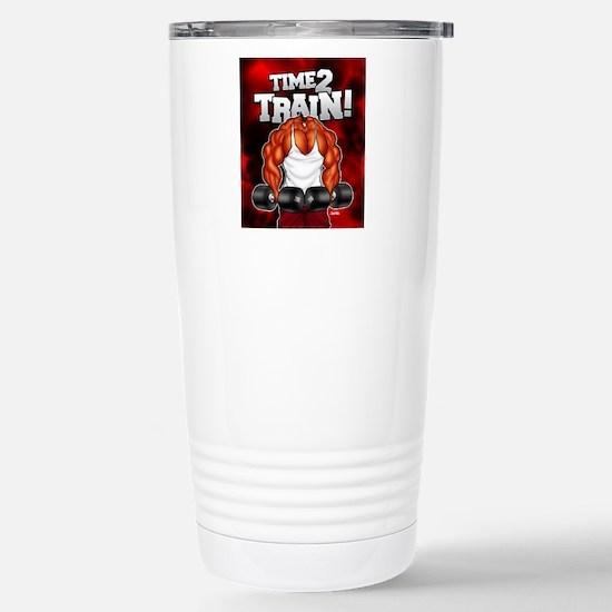 TIME2TRAIN_mp Stainless Steel Travel Mug
