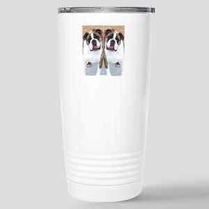 bulldog flip flops Stainless Steel Travel Mug