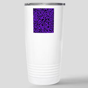 showercurtainpurpleopar Stainless Steel Travel Mug