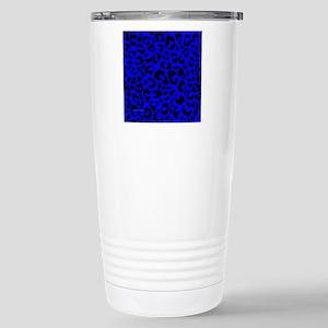 tileboxblueleopard Stainless Steel Travel Mug