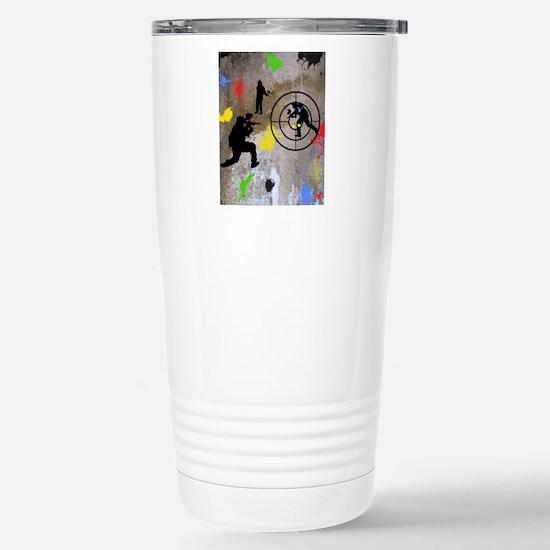 pAINTBALL aIM TWIN Stainless Steel Travel Mug