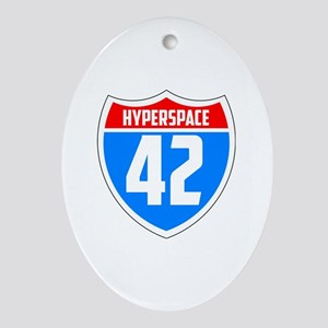 Hyperspace 42 Oval Ornament