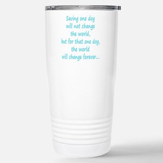 Save dog aqua Stainless Steel Travel Mug