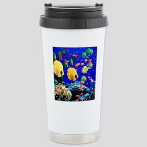 Under Sea Coral  Tropic Stainless Steel Travel Mug