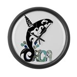 Orca Freedom Large Wall Clock