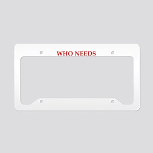 wow License Plate Holder