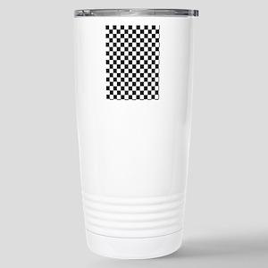 black checkered board Stainless Steel Travel Mug