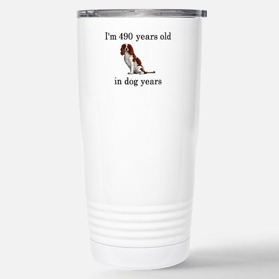 70 birthday dog years springer spaniel Stainless S