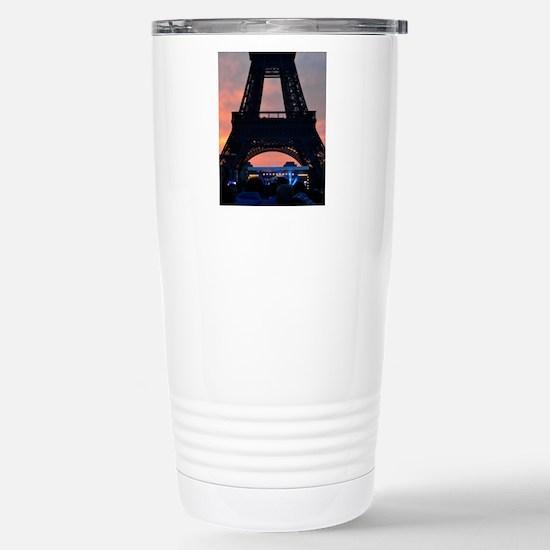 Eiffel Tower at Sunset, Stainless Steel Travel Mug