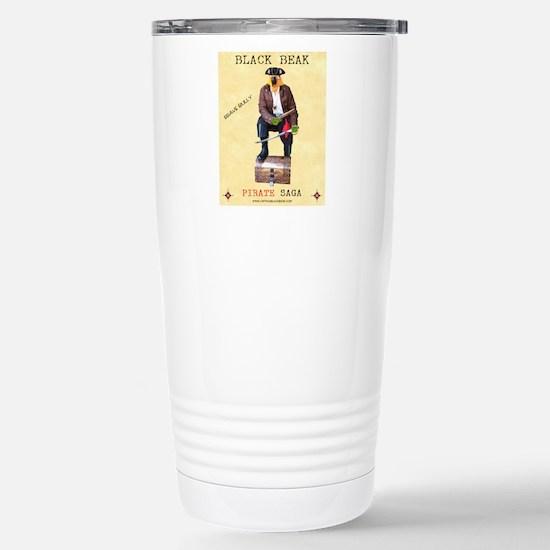 Brave Bully Black Beak  Stainless Steel Travel Mug