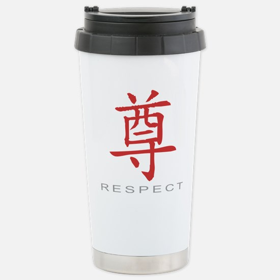respectColored Stainless Steel Travel Mug