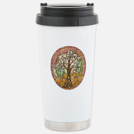Tree of Life Stainless Steel Travel Mug