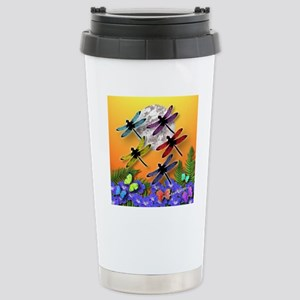 Dragonflying To The Moo Stainless Steel Travel Mug