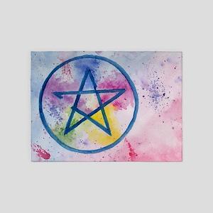 Pentagram 5'x7'Area Rug
