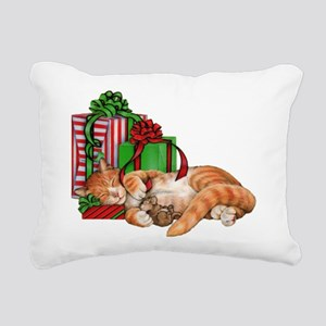 Cute Cat, Mouse and Christmas Presents Rectangular