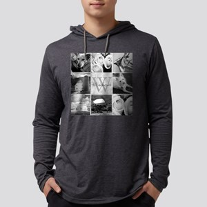 Elegant Photo Block and Monogram Long Sleeve T-Shi
