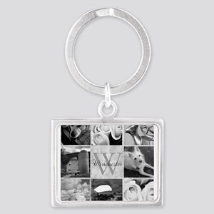 Elegant Photo Block and Monogram Keychains