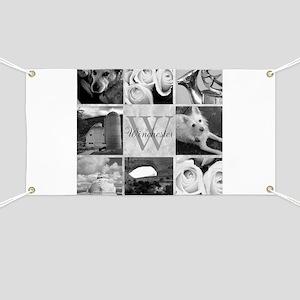 Elegant Photo Block and Monogram Banner