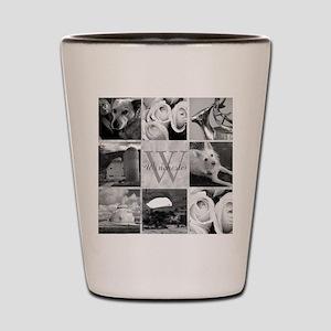 Elegant Photo Block and Monogram Shot Glass