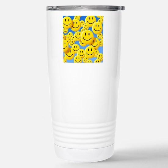 Smiley face symbols Stainless Steel Travel Mug