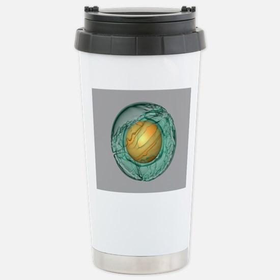 Mantle convection, 3-D  Stainless Steel Travel Mug