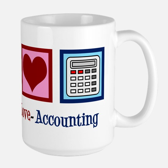 Accounting Peace Love Mug