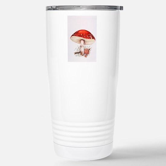 Fly agaric mushrooms Stainless Steel Travel Mug