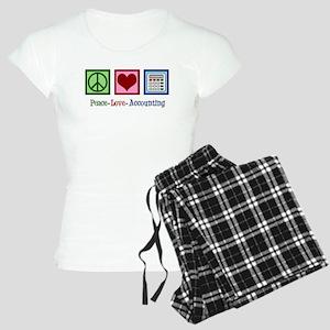 Accounting Peace Love Women's Light Pajamas