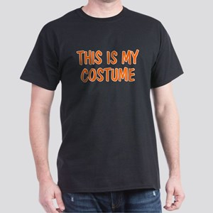 THIS IS MY COSTUME HALLOWEEN Black T-Shirt