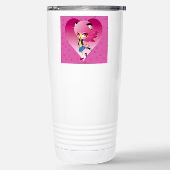 Nyan stars Stainless Steel Travel Mug