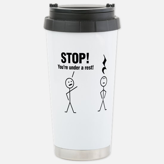 Stop! Stainless Steel Travel Mug
