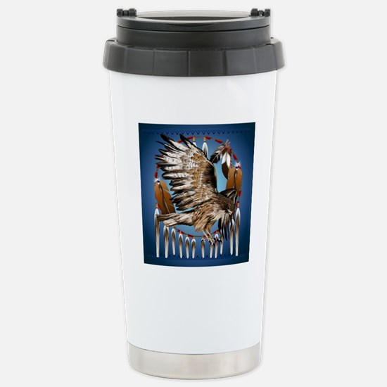 Dream Catcher Hawk Stainless Steel Travel Mug
