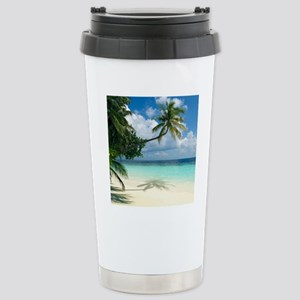 Tropical beach Stainless Steel Travel Mug