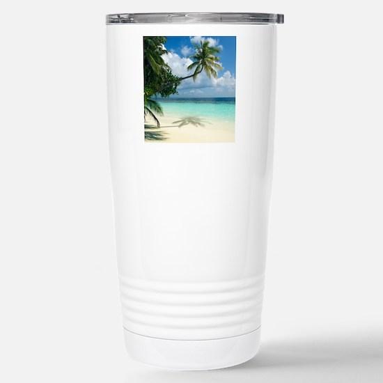 Tropical beach Stainless Steel Travel Mug